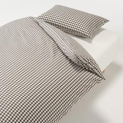 베개 커버 50x70cm용 BROWN CHECK MUJI 온라인스토어[www.mujikorea.net]