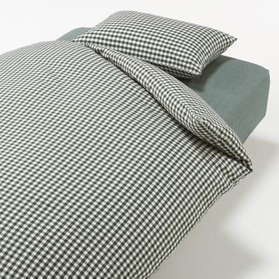 베개 커버 43x63cm용 GREEN CHECK MUJI 온라인스토어[www.mujikorea.net]