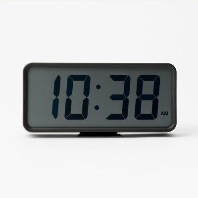 디지털 시계 · L · 블랙