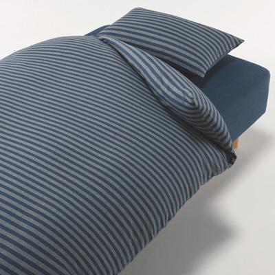 베개 커버 43×63cm용 네이비 보더 MUJI 온라인스토어[www.mujikorea.net]