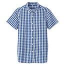 체크 반소매 셔츠