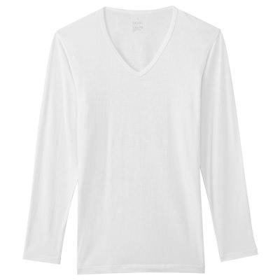 V넥 긴소매 셔츠