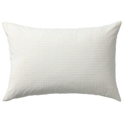 베개 커버 · 43×100 · 에크루체크 · 워싱면