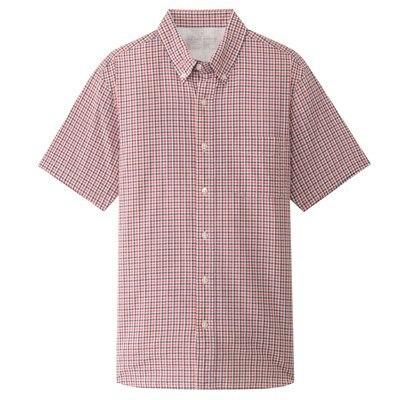 버튼다운 반소매 셔츠