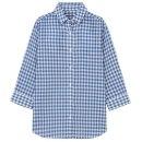 체크 7부소매 셔츠
