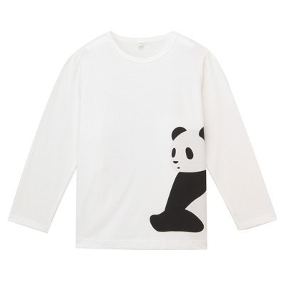 프린트 긴소매 티셔츠