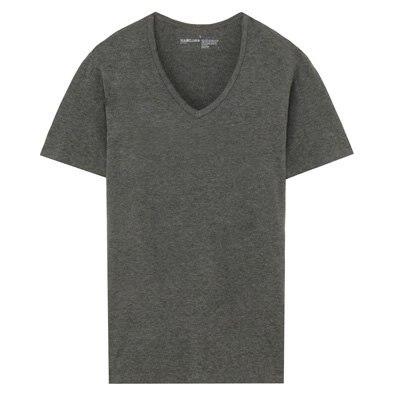 V넥 반소매 셔츠