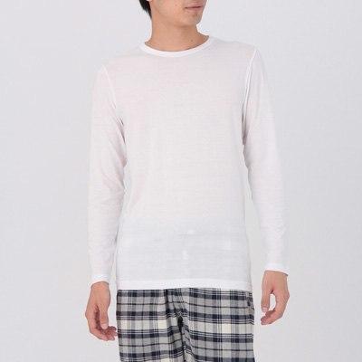크루넥 긴소매 셔츠
