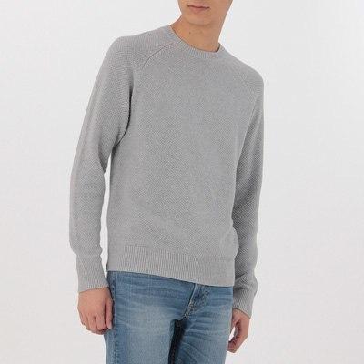 피케 크루넥 스웨터
