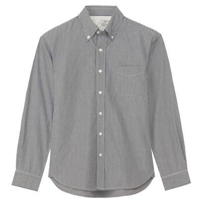 스트라이프 버튼다운 셔츠