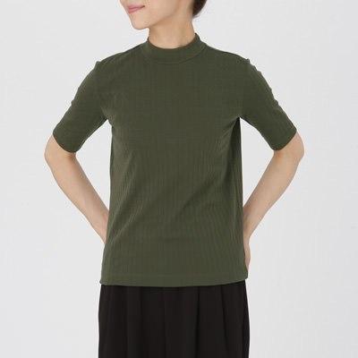 하이넥 5부소매 티셔츠