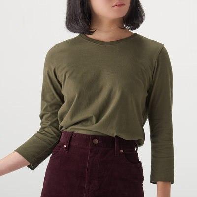 오가닉 코튼 · 7부소매 티셔츠