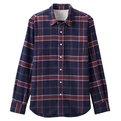 BURGUNDY(체크 셔츠)