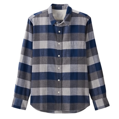 NAVY(체크 셔츠)