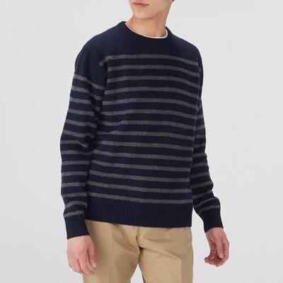 보더 크루넥 스웨터