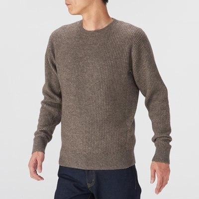 와플 편직 스웨터