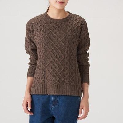 아란 패턴 스웨터