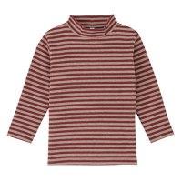 보더하이넥 긴소매 티셔츠