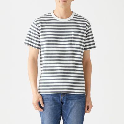보더 포켓 반소매 티셔츠