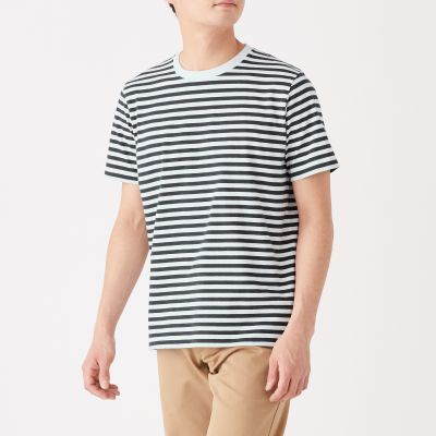 보더 반소매 티셔츠
