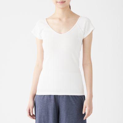 산뜻한 면·땀 흡수 패드 · 프렌치 슬리브 티셔츠