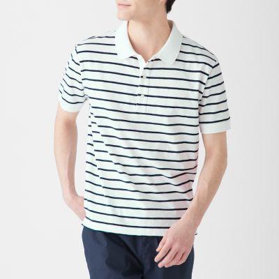 보더 반소매 폴로 셔츠