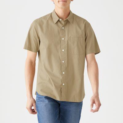 신강면 워싱 브로드 · 반소매 셔츠