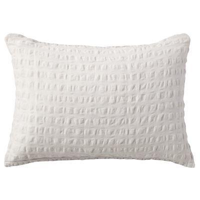 베개 커버 · 43×63 · 라이트그레이 · 마면 격자 서커