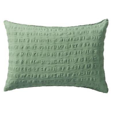 베개 커버 · 43×63 · 그린 · 마면 격자 서커