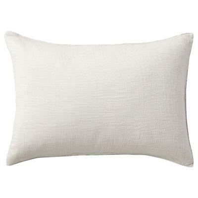 베개 커버 · 50×70 · 라이트그레이 미니체크 · 삼중 가제