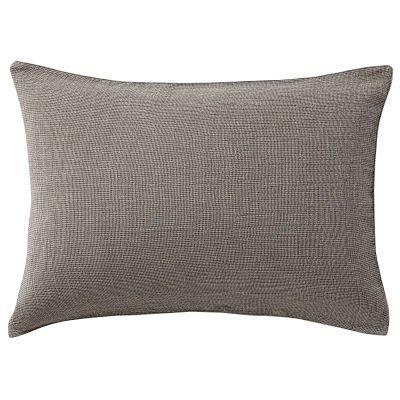 베개 커버 · 50×70 · 브라운 미니체크 · 삼중 가제
