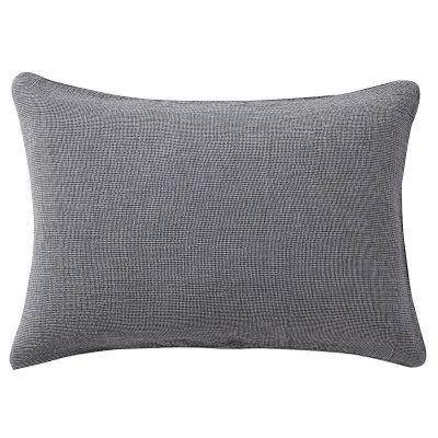 베개 커버 · 50×70 · 네이비 미니체크 · 삼중 가제