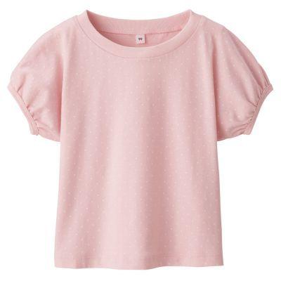 도트 반소매 티셔츠