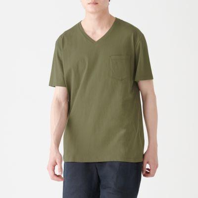 포켓 V넥 티셔츠