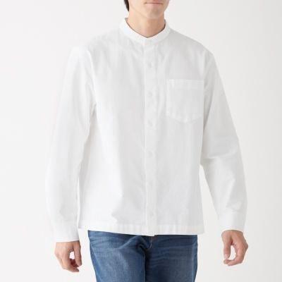 신강면 옥스포드 · 스탠드 칼라 셔츠