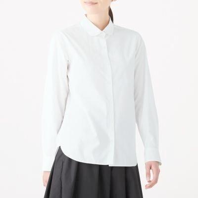 라운드 칼라 셔츠