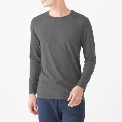 발열 면 · 크루넥 긴소매 티셔츠