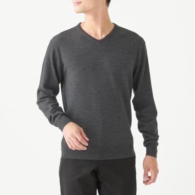 하이게이지 V넥 스웨터