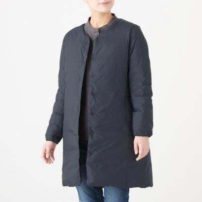 포케터블 노칼라 코트
