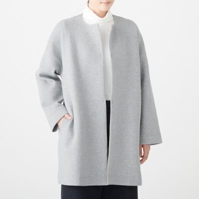 노 칼라 코트