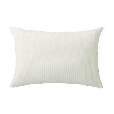 베개 커버 · 50×70 · 라이트베이지 스트라이프 · 워싱면
