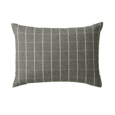 베개 커버 · 43×63 · 브라운 체크 · 플란넬