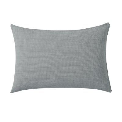 베개 커버 · 50×70 · 모스그린 미니체크 · 삼중 가제