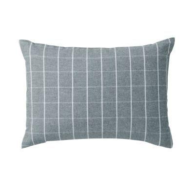베개 커버 · 43×63 · 그레이 체크 · 플란넬