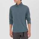 하프 집업 하이넥 티셔츠