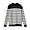 BLACKxCHARCOL BORDER(코튼 실크 가터 편직 · 크루넥 스웨터)