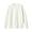 OFF WHITE(코튼 실크 가터 편직 · 크루넥 스웨터)