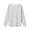 BLACKxCHARCOL BORDER(미니 와플 · 크루넥 긴소매 티셔츠)