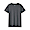DARK GRAY(인도 면 저지 · 크루넥 반소매 티셔츠)
