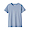 BLUE(땀에 강한 후라이스 · 크루넥 반소매 티셔츠)